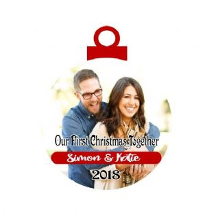 1st Christmas Together Photo Acrylic Christmas Ornament Decoration